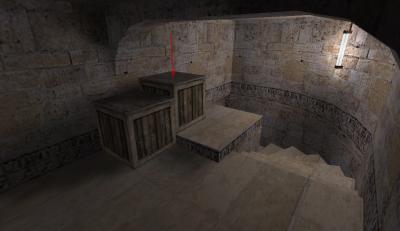 Занятие позиции на ящиках в кишке — трюки de_dust2