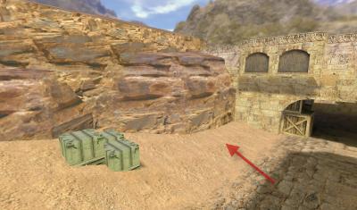 Сёрф по большой скале — de_dust2 триксы